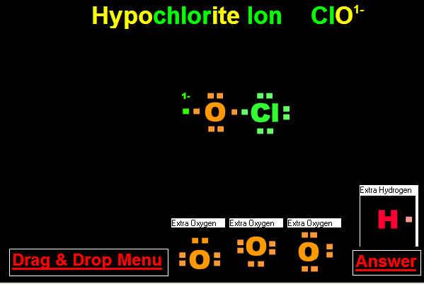 Hypochlorite Ion and Drop Hypochlorite Ion