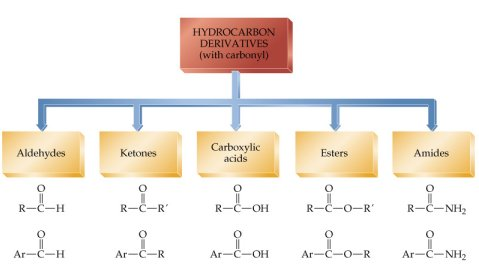 Hydrocarbon Derivatives with Carbonyl Carbon